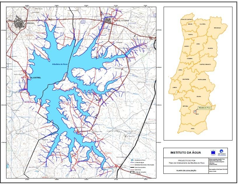 mapa barragens Site Autárquico   Barragem do Roxo mapa barragens