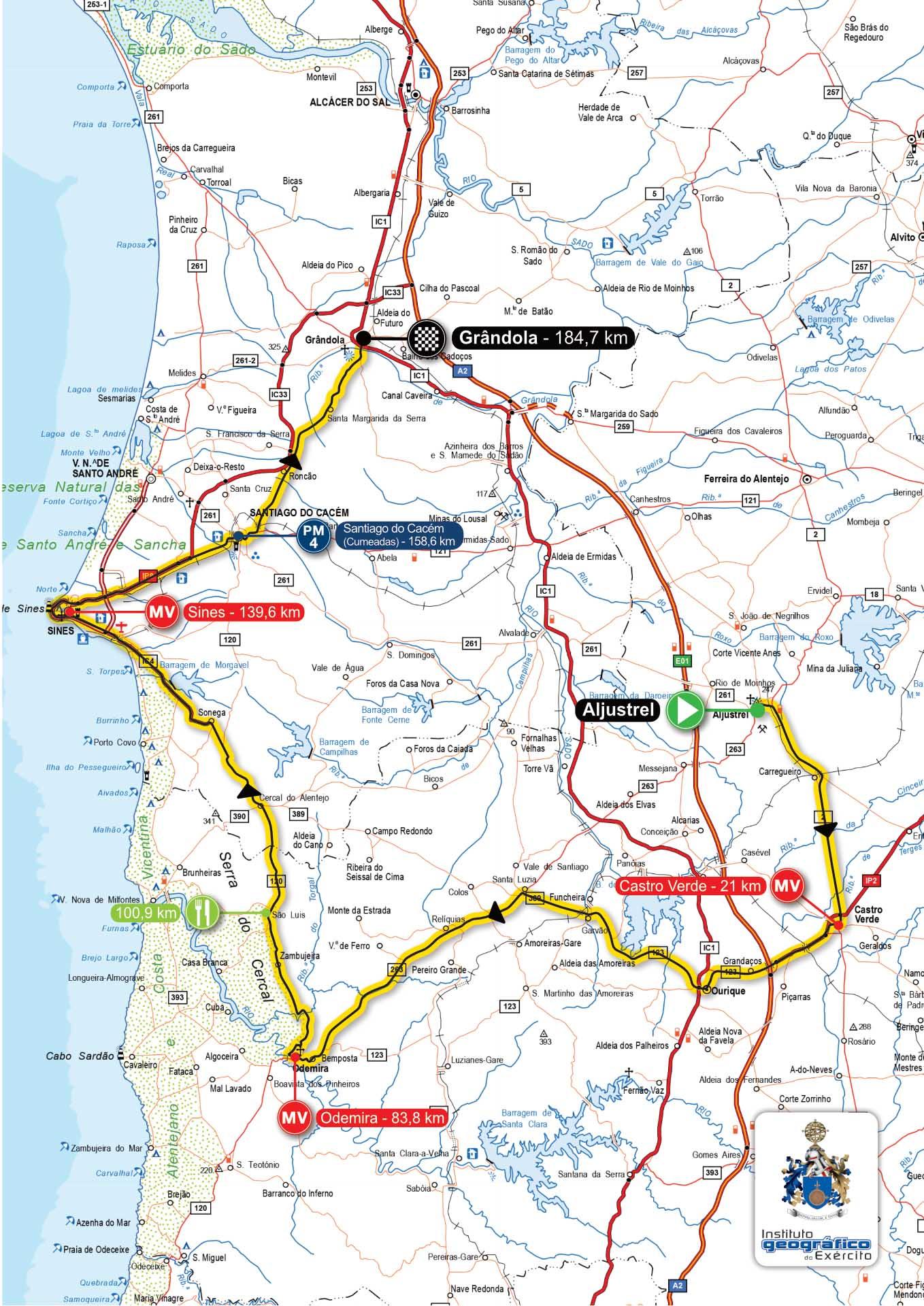 mapa cercal do alentejo Site Autárquico   34.ª Volta ao Alentejo mapa cercal do alentejo